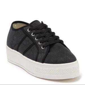 Rock & Candy Platform Sneaker NWOT Black Ladies  8